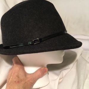 Callanan Black 100% Wool Fedora Hat